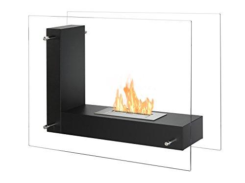 ignis vitrum l black freestanding ventless ethanol fireplace free standing corner ventless gas fireplace contemporary free standing ventless gas fireplace