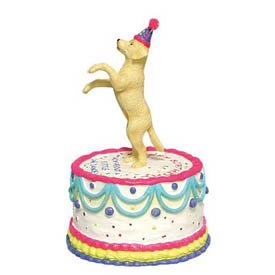 Amazon.com - Labrador Retriever Animated Happy Birthday Cake Figurine