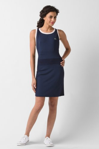 Sleeveless Technical Jersey Tennis Dress With Mesh Detail