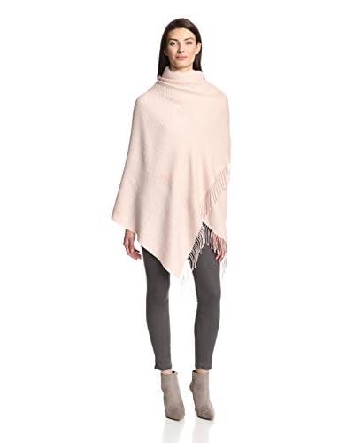 Alicia Adams Women's Wool Wrap, Beige/Pink