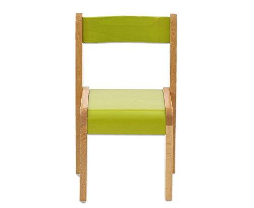 Massivholzstuhl-Kinderstuhl-grn-fr-Krpergre-130-150-cm-Sitzhhe-38-cm-robust-und-stapelbar