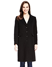 M&S Collection Wool Rich Coat with Cashmere