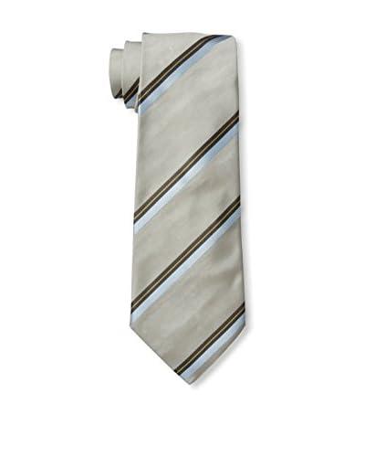 Valentino Men's Stripe Tie, Taupe Stripe, One Size