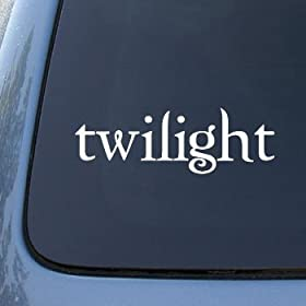 White Twilight Logo - Edward Cullen Vinyl Decal Sticker