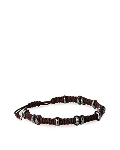Link UP BR1100BR Hematite and Chocolate Bracelet