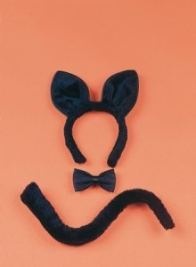 Black Cat Ears Large Halloween Costume Accessory