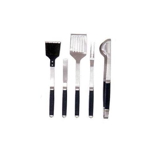 DCS BGA-GT5 Exclusive 5-Piece Stainless Steel Grilling Tool Set with Apron