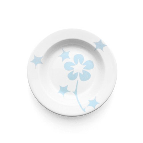 Blue Flora Rim Bowl Set