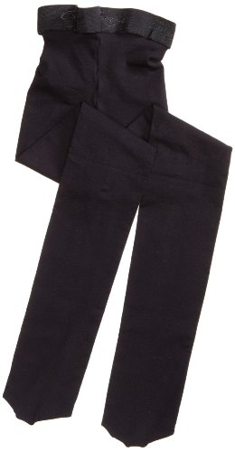 Capezio Big Girls' Ultra Soft Footed Tight, Black, One Size (8-12) front-1033770