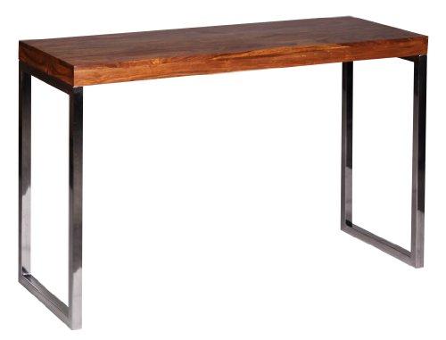 Wohnling-WL1306-Exklusiver-Massivholz-Konsolentisch-Tisch-Sheesham-Massiv-120-x-45-x-76-cm