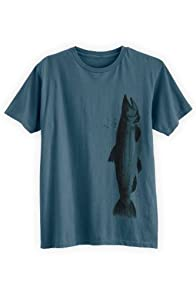 Green 3 Apparel Men's Watercolor Fish Organic USA-made T-shirt