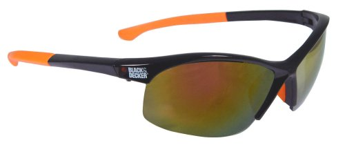 Black and Decker BD220-FC High Performance Safety Eyewear with Adjustable Temples Fire, Mirror Lens автомобильный компрессор black and decker asi200
