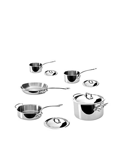 Mauviel M'Cook 5 Ply Stainless Steel 9-Piece Cookware Set, Silver