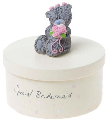 Special Bridesmaid Hand Painted Me to You Bear Trinket Box