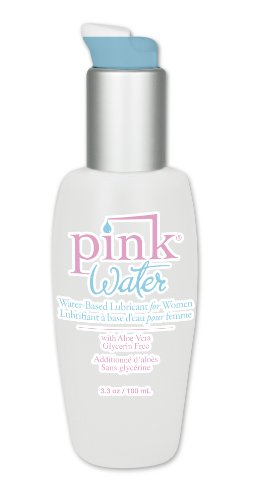 Pink Water - Water Based Lubricant for Women 3.3 oz Pump Bottle