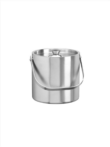 Kraftware Brushed Stainless Steel 3-Quart Brushed Stainless Steel Doublewall Ice Bucket
