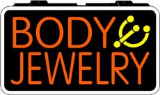 Body Jewelry Backlit Sign 13 x 24