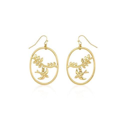 GT-DESIGN Matte Gold Overlap Dove Earrings Coupon 2015