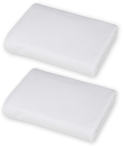 American Baby Company 100% Cotton Value Jersey Knit Fitted Portable/Mini Crib Sheet, White, 2 Count