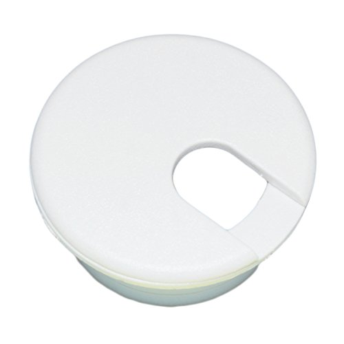 1 Desk Cord Cable Wire Grommet White 1-1/2