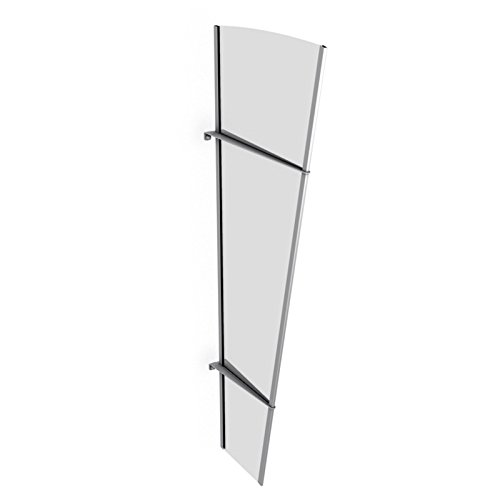 schulte seitenteil acrylglas edelstahl seitenteil acrylglas klar 167 x 62 cm. Black Bedroom Furniture Sets. Home Design Ideas