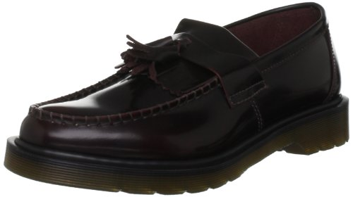 Dr Martens Adrian Polished Smooth, Scarpe basse Unisex - adulto, rosso (cherry red), 40