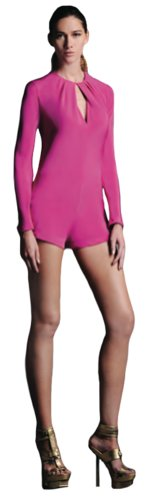 Alexis Womens Kerr Long Sleeve Romper In Fuchsia