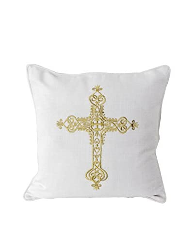 Elizabeth Embroidered Throw Pillow