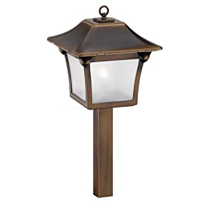 Malibu outdoor lighting malibu colonial light tarnished for Outdoor colonial lighting