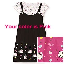 Amazon JCPenney Hello Kitty Tunic Tee Cotton Hot