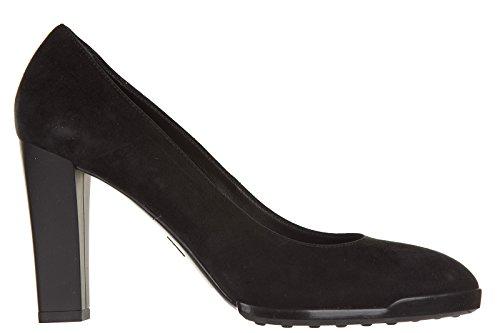 Tod's decolletes decoltè scarpe donna con tacco camoscio gomma t95 nero EU 38 XXW0WY0N080HR0B999