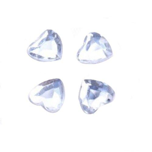 500 PCs 8mm Confettis en Forme de Coeur pour Décoration de Table de Fête de Mariage - Clair