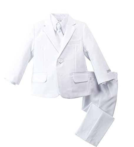Spring Notion Baby Boys' Modern Fit Dress Suit Set Extra Small/6-9M White
