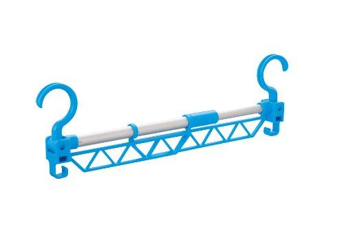 コジット 間に干せる! はしごポールDX 【洗濯物をたくさん干せる物干し竿、竿の間を有効活用! 】