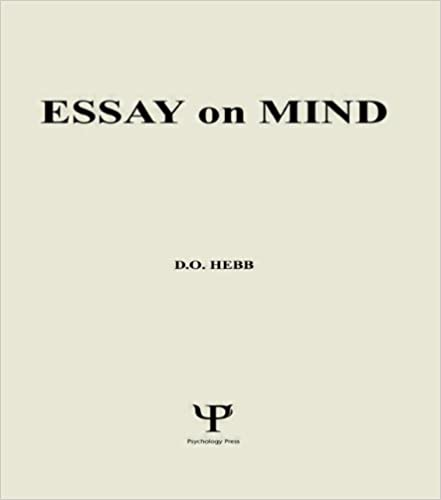 Amazon com: Essay on Mind (978 89859 173): D O Hebb