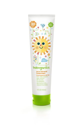 Babyganics Pure Mineral Sunscreen Spf 30, 4 Oz (Pack Of 3), Packaging May Vary