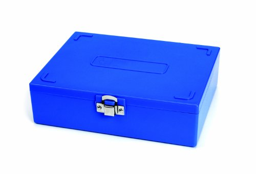 Heathrow Scientific Hd15979A Abs Blue Sturdy Tall Slide Box, 208Mm Width X 175Mm Height X 60Mm Depth, 100-Place