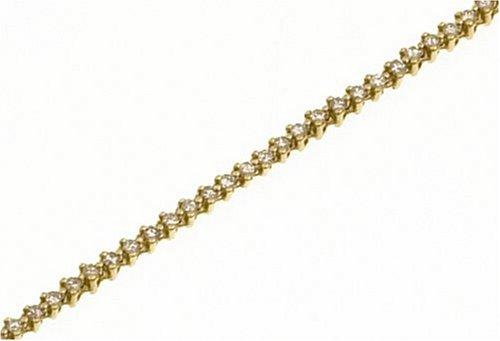 Ladies' Diamond Bracelet, 9ct Yellow Gold, Prong Setting Model PBC1674