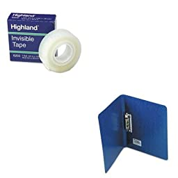 KITACC42523MMM6200341296 - Value Kit - Acco PRESSTEX Grip Punchless Binder With Spring-Action Clamp (ACC42523) and Highland Invisible Permanent Mending Tape (MMM6200341296)