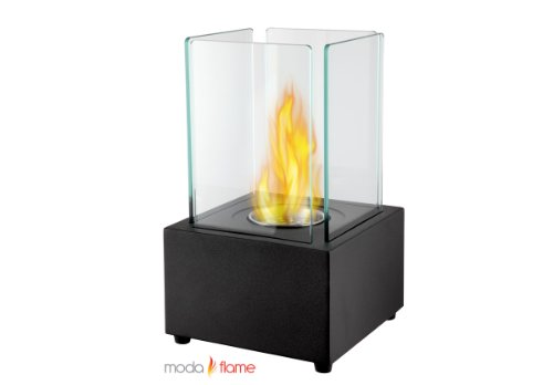 Moda Flame Pavilion Table Top Firepit Bio Ethanol Ventless Fireplace In Black...