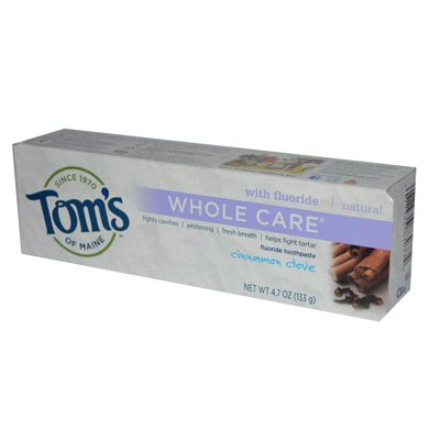 Toms Of Maine Whole Care Toothpaste Cinnamon Clove - 4.7 Oz - Case Of 6