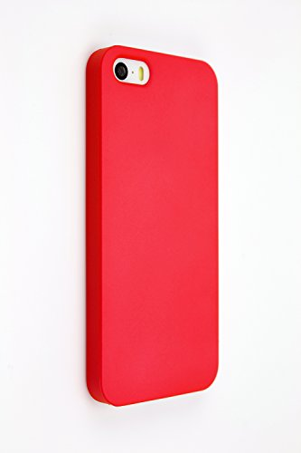 Gismo - Slim Back Protective Case - Minimalist. For Apple Iphone 5 / 5S (Red)
