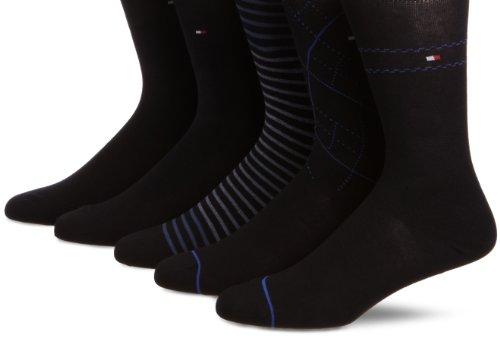 tommy-hilfiger-herren-socke-5-er-pack-422009001-gr-43-46-blau-563-midnight-blue