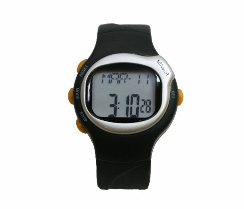 Cheap Pulse Rate Watch in Black with Heart Rate Monitor (B004S7QIWA)