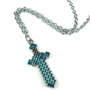 Minecraft Blue Diamond Sword Necklace from A-factory
