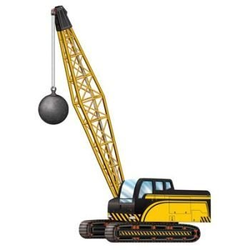 Jointed Crane w/Wrecking Ball Party Accessory (1 count) (1/Pkg)