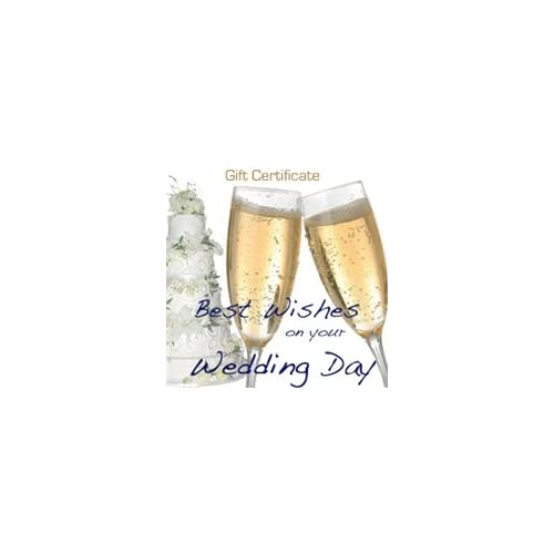 Wedding Day Gift Message : Wedding Day Best Wishes, Cheers Gift Certificate