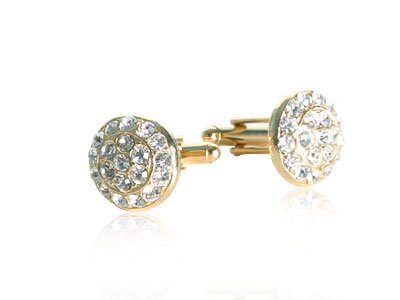 Gold-Tone Crystal Cluster Cufflinks by Cuff-Daddy