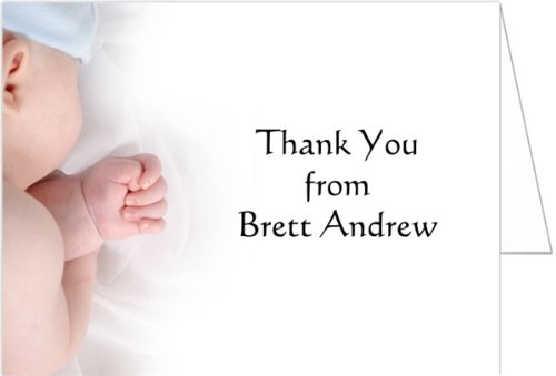 Baby Boy Baby Thank You Cards - Set of 20