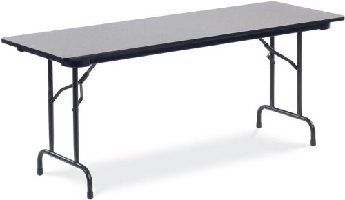 Virco 6000 Series 24''W x 72''L Traditional Rectangular Folding Table